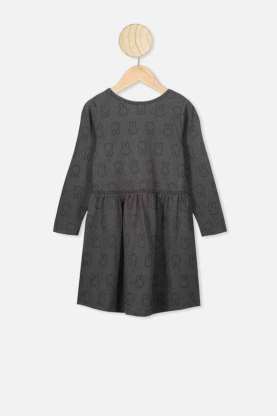 Freya Long Sleeve Dress, LCN MIF PHANTOM/MIFFY HEADS