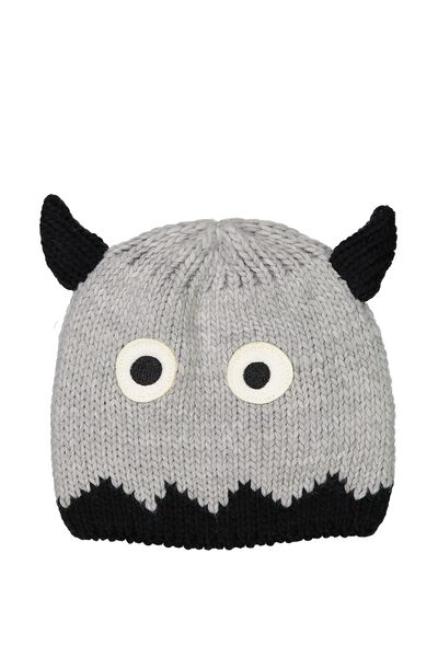 Winter Knit Beanie, GREY MONSTER