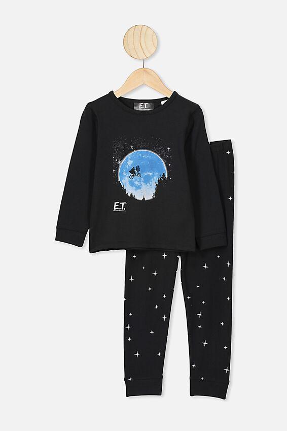 Orlando Long Sleeve Pyjama Set, LCN UNI BLACK ET