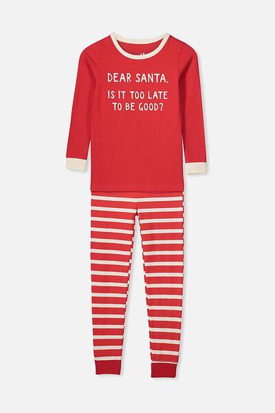 Lila Long Sleeve Pyjama Set, DEAR SANTA