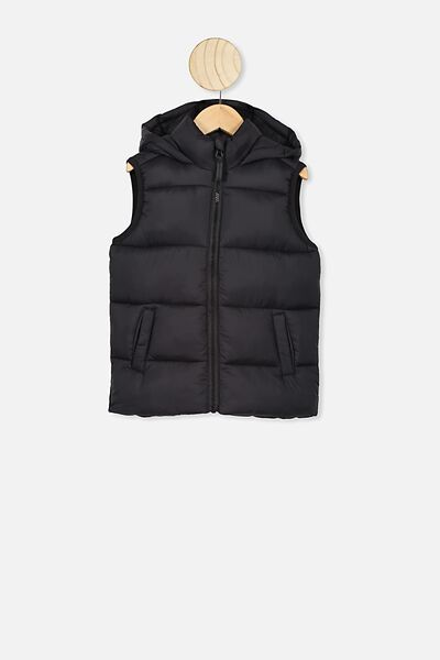 Billie Puffer Vest, BLACK