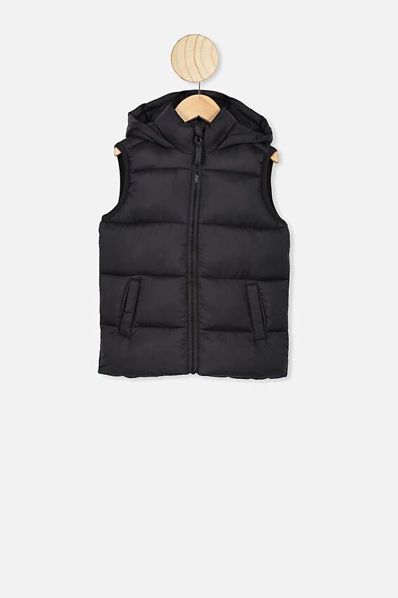 Billie Puffer Vest, BLACK