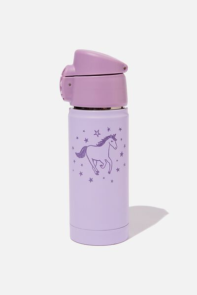 Metal Drink Bottle, LILAC UNICORN