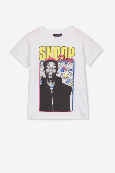 Lux Short Sleeve Tee, LCN MT WHITE/90s SNOOP DOGG/MAX