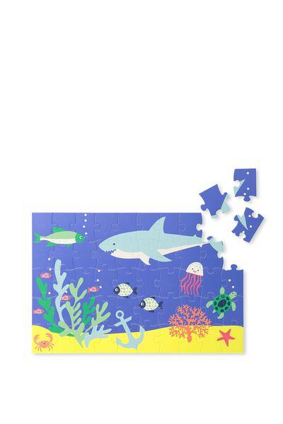 Kids 50Pc Puzzle, BLUE SHARK
