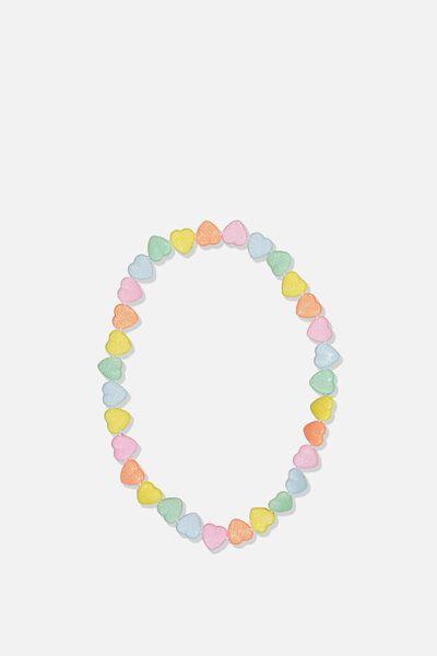 Mixed Beaded Necklace, RAINBOW HEART