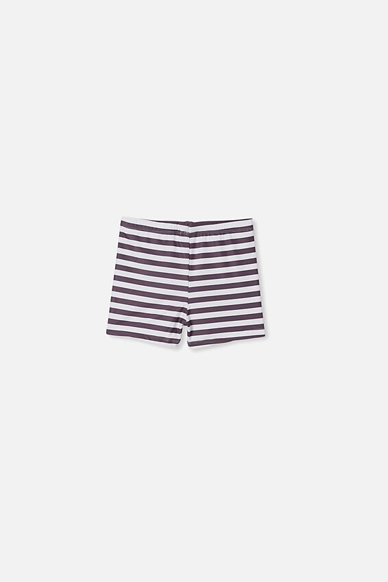 Billy Boyleg Swim Trunk, NAVY/WHITE STRIPE