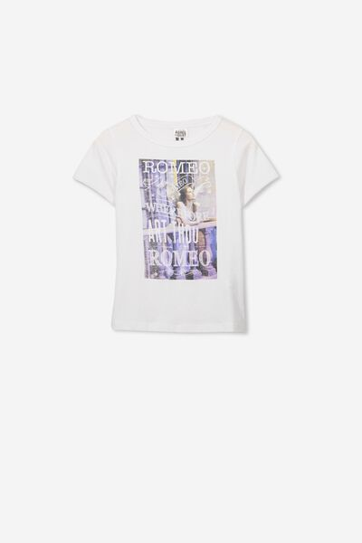 Lux Short Sleeve Tee, LCN WHITE/ROMEO AND JULIET WINGS/RINGER