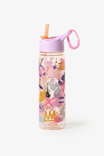 Summer Drink Bottle, PINK GRAFITTI