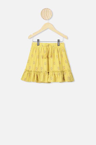 Isla Midi Skirt, CORNSILK PAISLEY PRINT