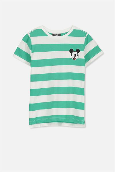 Short Sleeve License Tee, ECO GREEN YDS/EMB MICKEY