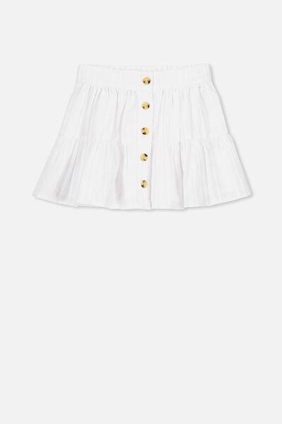 Suri Skirt, WHITE TEXTURED STRIPE