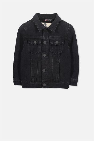 License Denim Jacket, WASHED BLACK/ROLLING STONES