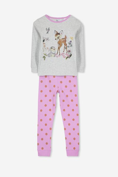 Alicia Long Sleeve Girls PJ Set, LCN DIS BAMBI AND THUMPER