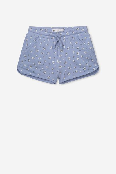 Nina Knit Short, DUSTY BLUE/DITSY FLORAL