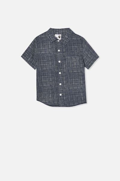 Resort Short Sleeve Shirt, HATCHER CHECK/NAVY WHITE