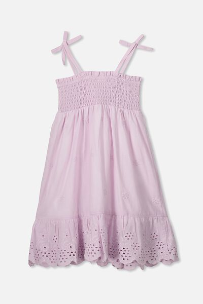 Lily Mae Sleeveless Dress, LAVENDER FOG/FLORAL