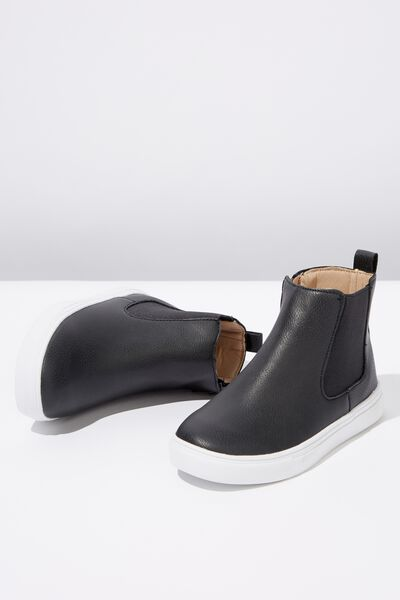 Darcy Gusset Boot, NAVY SMOOTH
