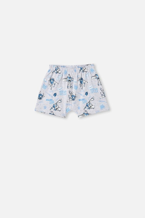 Hudson Short Sleeve Pyjama Set, LCN DIS BUZZ HERO/ SUMMER GREY MARLE