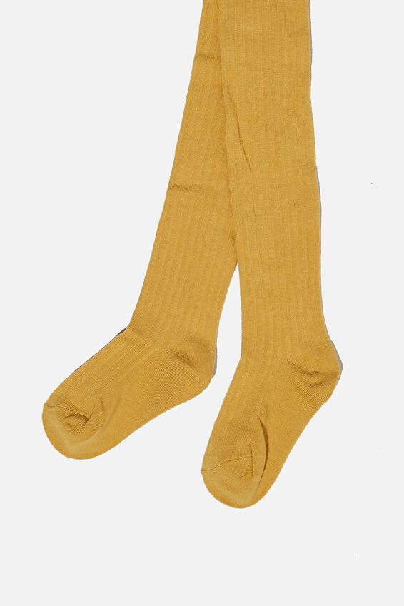 Ribbed Solid Tight, KEEN AS MUSTARD