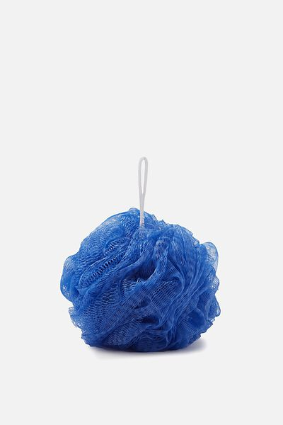 Bath And Shower Pouf, DARK BLUE