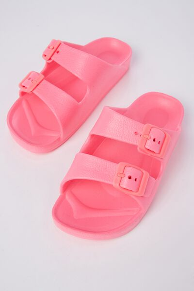 Twin Strap Slide, STRAWBERRY PINK