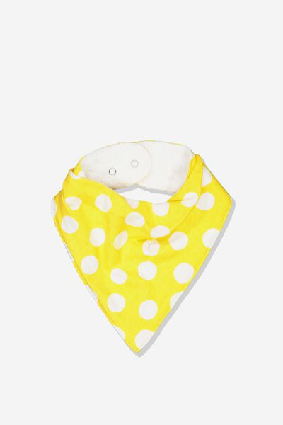 Dribble Bib, SUNSET GOLD/TRIBAL SPOT