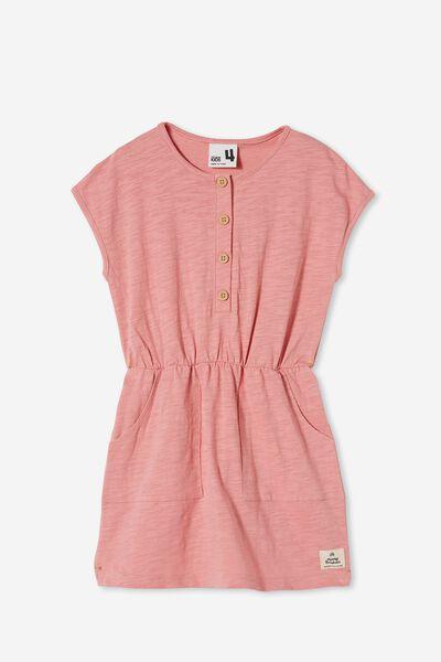 Sigrid Short Sleeve Dress, MUSK ROSE