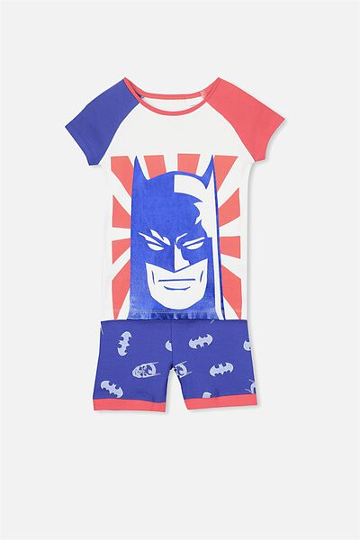 Angus Boys Short Sleeve PJ Set, LCN DC BATMAN
