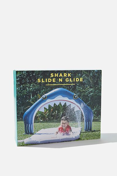Inflatable Slide N Glide, BLUE SHARK