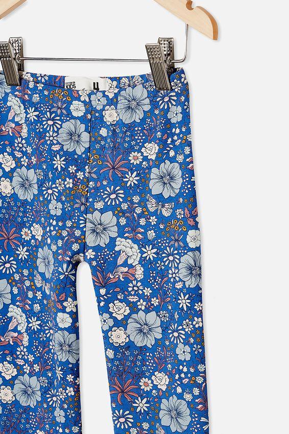 Huggie Tights, RETRO BLUE/GARDEN FLORAL