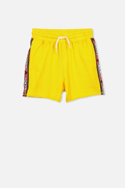 License Slouch Short, YELLOW/MICKEY TAPE