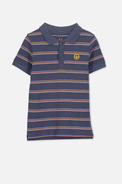 Kenny 3  Polo, RETRO STRIPE/SMILEY