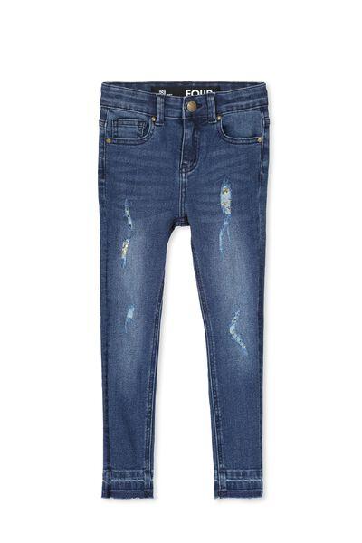 Dahlia Rip & Repair Jean, DEEP INDIGO