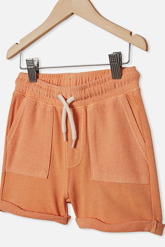 Henry Slouch Short 80/20, DARK MELON WASH