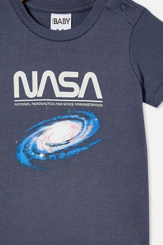 Jamie Short Sleeve Tee-License, LCN NAS VINTAGE NAVY/NASA GALAXY