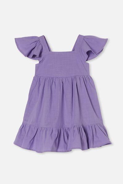 Cady Short Sleeve Dress, ULTRA VIOLET
