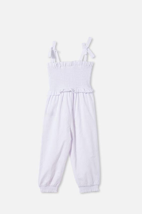 Imogen Shirred Jumpsuit, WHITE