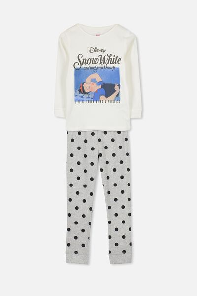 Alicia Long Sleeve Girls PJ Set, LCN DIS SNOW WHITE