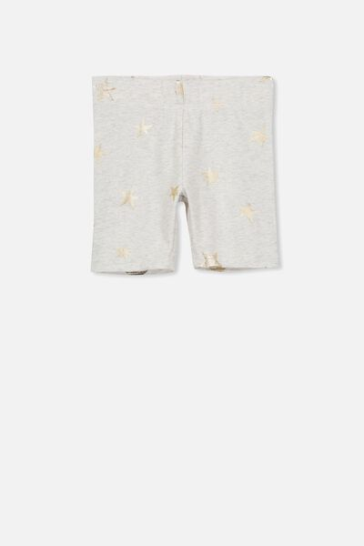 Hailey Short, SUMMER GREY MARLE/GOLD FOIL STARS
