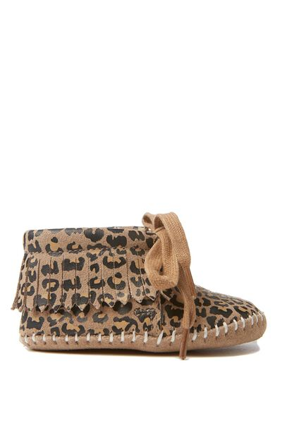 Arlo Mini Leather Moccasin, LEOPARD