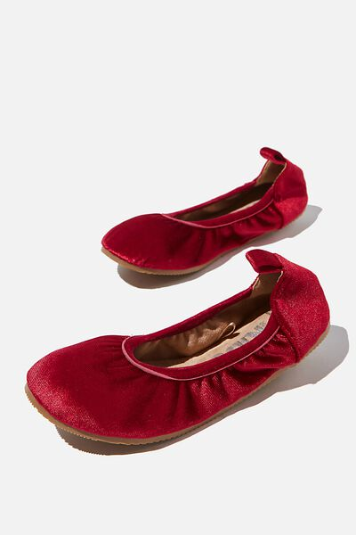 Kids Primo Ballet Flat, RED BERRY
