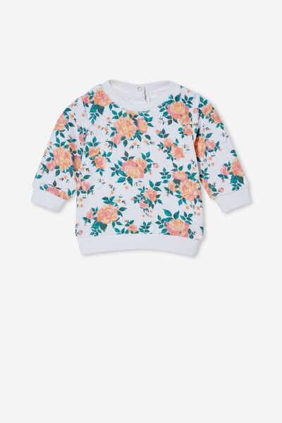 Terrence Sweater, VANILLA/MELON POP WHITBY FLORAL