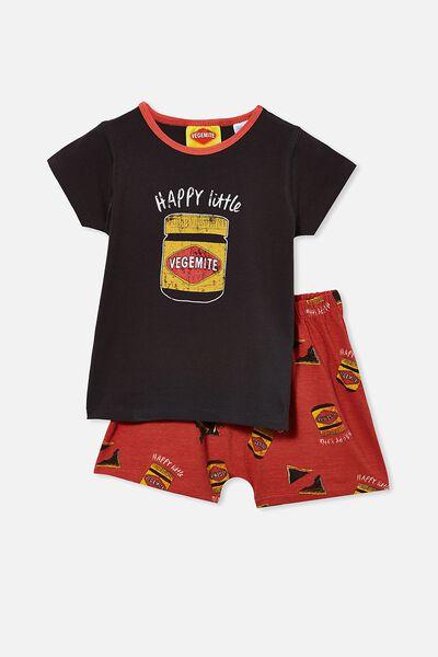 Hudson Short Sleeve Pyjama Set Licensed, LCN VEGEMITE/PHANTOM