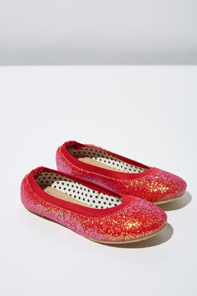 Kids Primo, RED CHUNKY GLITTER