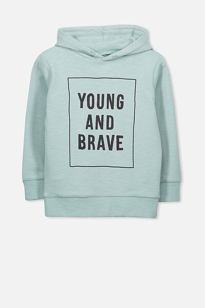 Liam Hoodie, BARBER BLUE SLUB/YOUNG AND BRAVE