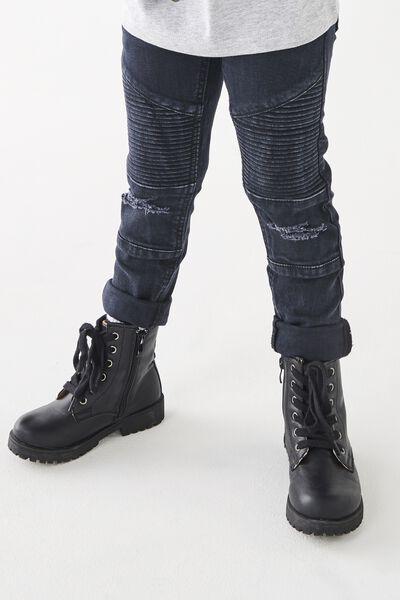 Moto Jean, WASHED BLACK