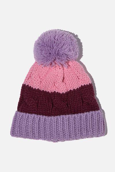 Baby Winter Knit Beanie, CALI PINK SPLIE