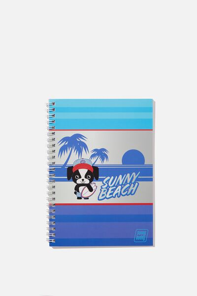 A5 Flip It Notebook, MAX SUNNY BEACH