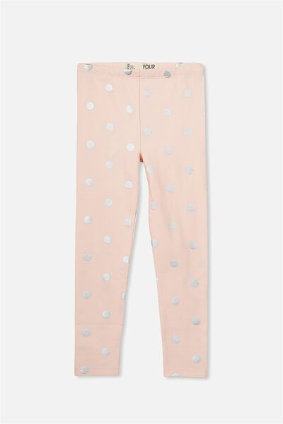 Huggie Leggings, SHELL PEACH/SILVER FOIL SPOT